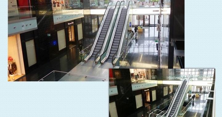 """Przebudowa schodów ruchomych w centrum handlowym """"Plac Unii"""" w  Warszawie – w trakcie projektowania."""
