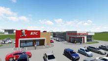 Rrestauracja typu fast food oraz obiekt handlowy) w Modlnicy koło Krakowa